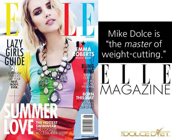 Mike Dolce shares bikini diet weight-loss methods in Elle Magazine